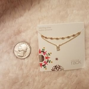 Nordstrom letter b Crystal necklace